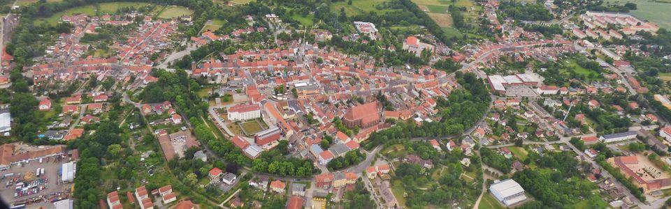 Luckauer Altstadt, Luftbild