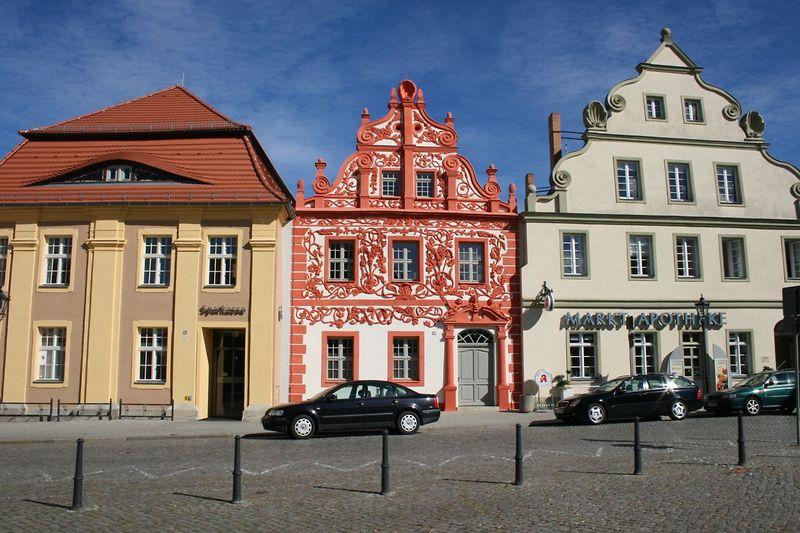 Luckauer Altstadt, Barocke Giebelfassaden